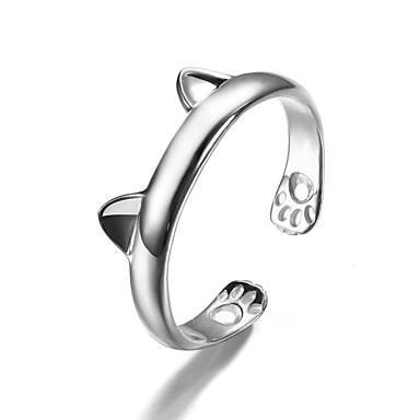Női mandzsetta Ring Divat aranyos stílus jelmez ékszerek Ezüst Animal Shape Ékszerek Kompatibilitás Parti Napi Hétköznapi