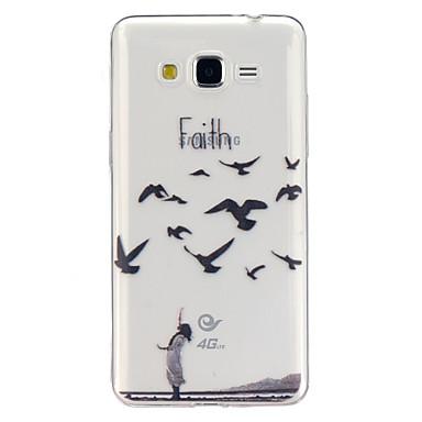 Voor Samsung Galaxy hoesje Hoesje cover Transparant Patroon Achterkantje hoesje dier TPU voor Samsung Galaxy J5 Grand Prime Core Prime
