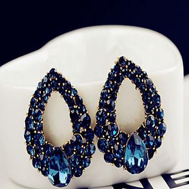 Dames Druppel oorbellen Oorbel Saffier Modieus Europees Opvallende sieraden Kostuum juwelen Edelsteen Gesimuleerde diamant Drop Sieraden