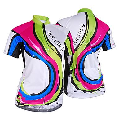 Nuckily Camisa para Ciclismo Mulheres Manga Curta Moto Camisa/Roupas Para Esporte Blusas Resistente Raios Ultravioleta Permeável á