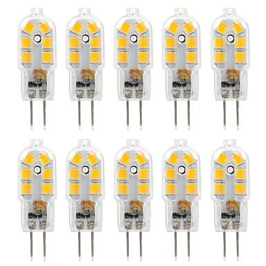 abordables Bombillas LED-10pcs 2.5 W Luces LED de Doble Pin 250 lm G4 T 14 Cuentas LED SMD 2835 Decorativa Blanco Cálido Blanco Fresco Blanco Natural 220 V 12 V / 10 piezas / Cañas