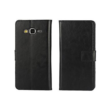 Mert Samsung Galaxy tok Kártyatartó / Pénztárca / Állvánnyal / Flip Case Teljes védelem Case Egyszínű Műbőr SamsungGrand Prime / Grand