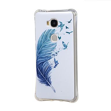 Capinha Para Huawei Capinha Huawei Antichoque Capa Traseira Penas Macia TPU para Honor 5X Huawei Y6 / Honor 4A