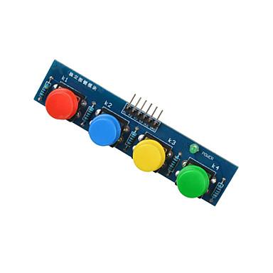 4 ключа Сенсорный модуль внешний модуль клавиатуры для Arduino + малина pi- синий