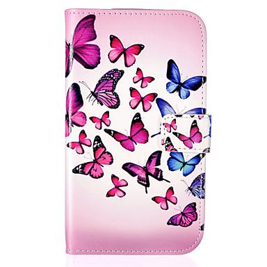Voor Samsung Galaxy hoesje Kaarthouder / Portemonnee / met standaard / Flip hoesje Volledige behuizing hoesje Vlinder PU-leer Samsung