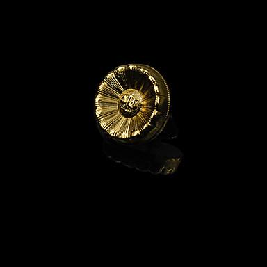 Homens Feminino Pedaço de Platina Chapeado Dourado Liga Moda Prata Dourado Jóias Casamento Festa Diário Casual