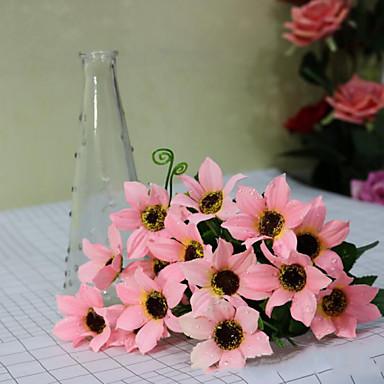 Poliéster Crisântemo Flores artificiais