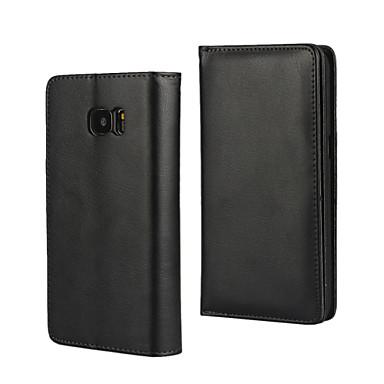 Voor Samsung Galaxy S7 Edge Portemonnee / Kaarthouder / met standaard / Flip hoesje Volledige behuizing hoesje Effen kleur PU-leer Samsung