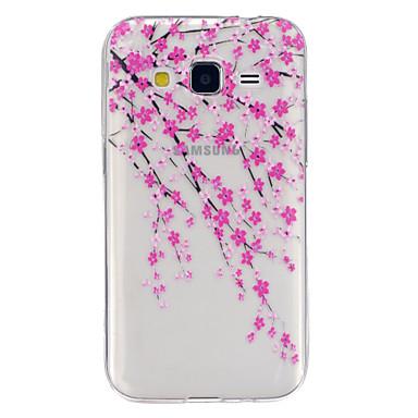Para Samsung Galaxy Capinhas Case Tampa Transparente Estampada Capa Traseira Capinha Flor PUT para Samsung Galaxy J5 Grand Prime Core