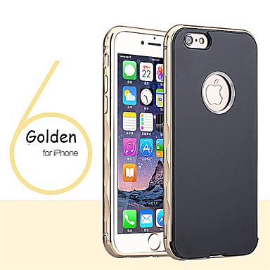 Para Capinha iPhone 6 / Capinha iPhone 6 Plus Cromado Capinha Capa Traseira Capinha Cor Única Rígida MetaliPhone 6s Plus/6 Plus / iPhone