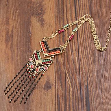 Dames Luxe Modieus Hangertjes ketting Y-Kettingen Agaat Hars Emaille Gesimuleerde diamant Legering Hangertjes ketting Y-Kettingen , Feest