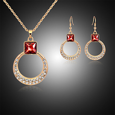 Χαριτωμένο / Πάρτι - Κρεμαστό / Σκουλαρίκι για Γυναίκα (Επίστρωση ροζέ χρυσό / Κράμα / Στρας / Πέτρα & κρύσταλλο)