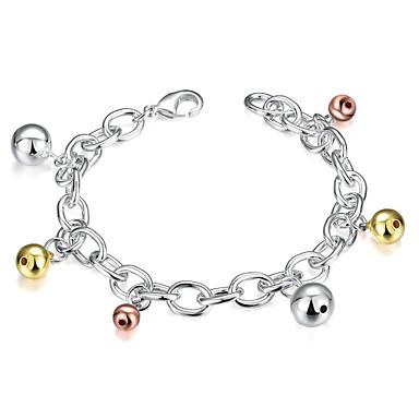 Dames Armbanden met ketting en sluiting Modieus Europees Koper Verzilverd Zilver Sieraden Voor Feest Dagelijks Causaal 1 stuks