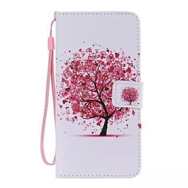 rode boom geschilderde pu telefoonhoesje voor ipod touch5 / 6 ipod hoesjes / hoesjes