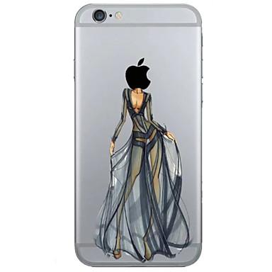 Voor iPhone 6 iPhone 6 Plus Hoesje cover Transparant Patroon Achterkantje hoesje Spelen met Apple-logo Zacht TPU voor iPhone 6s Plus
