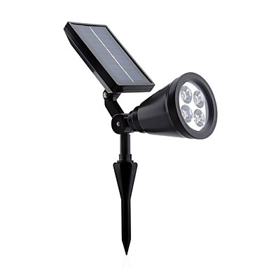 4LEDs 200LM luzes de parede cor branca de iluminação solar ao ar livre ajustável e à prova de água