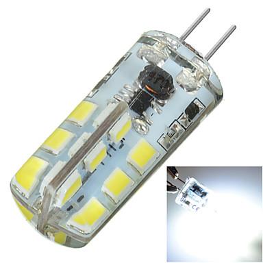 G4 Luminárias de LED  Duplo-Pin Encaixe Embutido 24 LEDs SMD 2835 Decorativa Branco Frio 200-300lm 6000KK DC 12 AC 12V