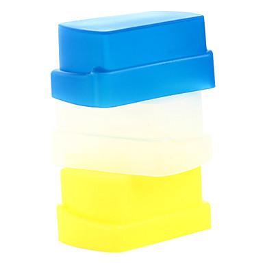 nieuwe silicium flexibele flash bounce diffuser softbox wit + geel + blauw voor Nikon SB800 / SB600 yn-460 yn-465 yn-467 yn-468