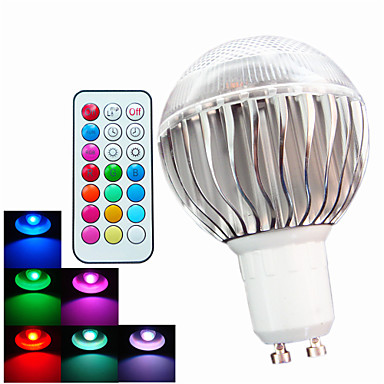 400 lm GU10 LED Λάμπες Σφαίρα A60(A19) 3 leds LED Υψηλης Ισχύος Με ροοστάτη Διακοσμητικό Τηλεχειριζόμενο RGB AC 100-240V