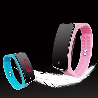 Pánské Sportovní hodinky Digitální Silikon Vícebarevný Dotykový displej LED  Svítící Digitální dámy Přívěšky Módní - Zelená 292c8c73be