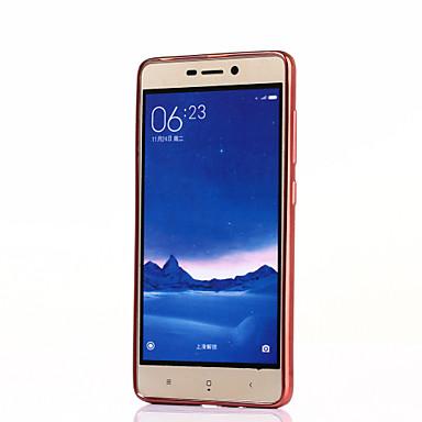 Voor Mi hoesje Beplating / Transparant hoesje Achterkantje hoesje Effen kleur Zacht TPU Xiaomi