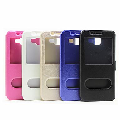 Capinha Para Samsung Galaxy Samsung Galaxy Capinhas Com Suporte com Visor Flip Magnética Capa Proteção Completa Côr Sólida PU Leather para