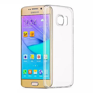 Кейс для Назначение SSamsung Galaxy Samsung Galaxy S7 Edge Прозрачный Кейс на заднюю панель Сплошной цвет ТПУ для S7 edge S7