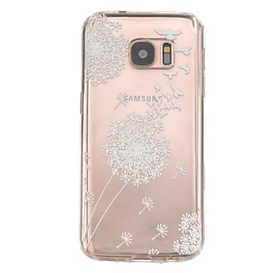 Voor Samsung Galaxy S7 Edge Patroon hoesje Achterkantje hoesje Paardenbloem TPU Samsung S7 edge plus / S7 edge / S7