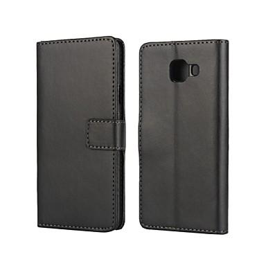 hoesje Voor Samsung Galaxy Samsung Galaxy hoesje Kaarthouder met standaard Flip Magnetisch Volledig hoesje Effen Kleur PU-nahka voor