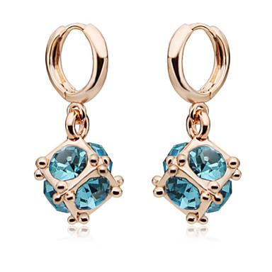 Druppel oorbellen Kristal Roos Rood Groen Blauw Gouden Sieraden Voor Bruiloft Feest Dagelijks Causaal 1 Set