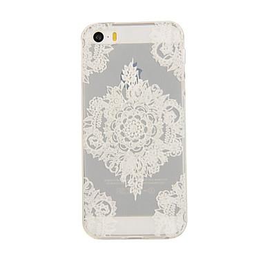 hoesje Voor iPhone 5 Apple iPhone 5 hoesje Transparant Patroon Achterkant Lace Printing Zacht TPU voor iPhone SE/5s iPhone 5