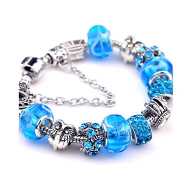 Dames Bedelarmbanden Vintage Armbanden Legering Blauw Sieraden Voor Feest Dagelijks Causaal Kerstcadeaus 1 stuks