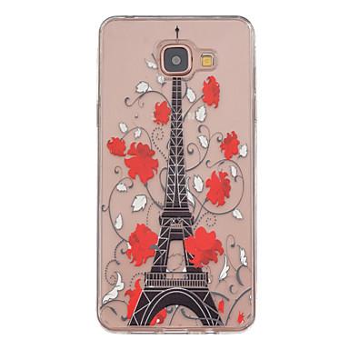 Para Samsung Galaxy Capinhas Case Tampa Transparente Estampada Capa Traseira Capinha Torre Eiffel PUT para Samsung Galaxy A5(2016)