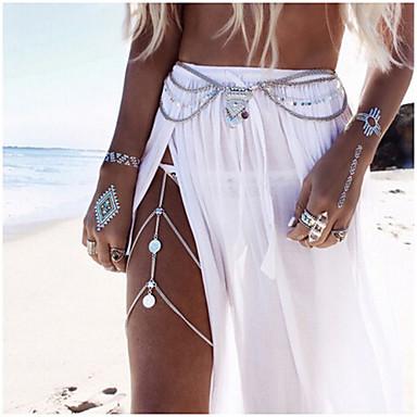 Bauchkette / Körper-Kette / Bauchkette damas, Einzigartiges Design, Europäisch, Modisch Damen Silber / Golden Körperschmuck Für Hochzeit / Normal / Strand