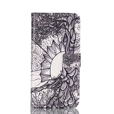 Para Samsung Galaxy S7 Edge Carteira / Porta-Cartão / Com Suporte / Flip Capinha Corpo Inteiro Capinha Árvore Couro PU SamsungS7 edge /