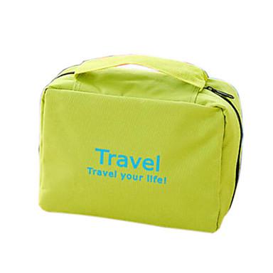 여행용 세면도구 가방 화장품 백 화장품 & 메이크업 가방 걸이용 세면도구 가방 방수 휴대용 폴더 행잉 멀티기능 여행용 보관함 용 의류 나일론 / 여행