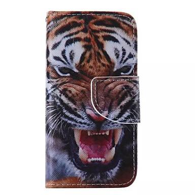 Capinha Para Capinha iPhone 5 Carteira Com Suporte Flip Corpo Inteiro Animal Rígida Couro Ecológico para iPhone SE/5s iPhone 5