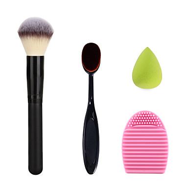 make-up tandenborstel cream poeder blush borstel wassen borstel ei en groene kleine grootte make-up spons