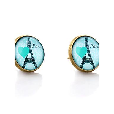 Beszúrós fülbevalók Szerelem Szív minimalista stílusú Szintetikus drágakövek Üveg Ötvözet Heart Shape Torony Ékszerek Kompatibilitás