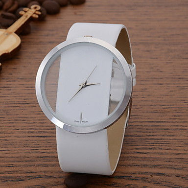 Women's Quartz Wrist Watch Casual Watch Leather Band Casual Elegant Fashion Black White Blue Red Brown