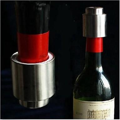 okos rozsdamentes acélból készült vákuumos lezárt vörös bor tárolására üveg dugóval kupak