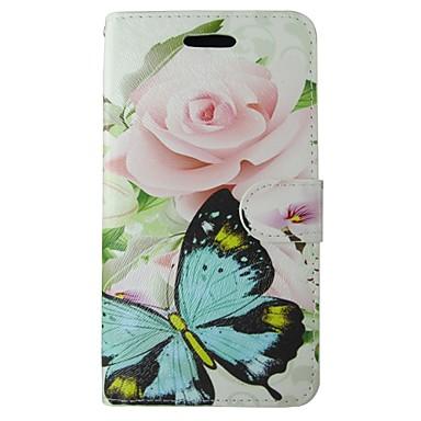 Hülle Für Samsung Galaxy S8 S7 Kreditkartenfächer Geldbeutel mit Halterung Flipbare Hülle Ganzkörper-Gehäuse Schmetterling Blume Hart