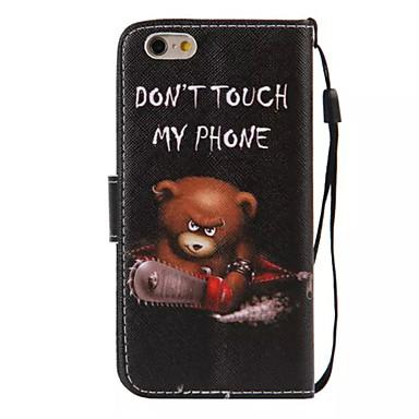 Case Kompatibilitás Apple iPhone 6 iPhone 6 Plus Kártyatartó Pénztárca Állvánnyal Flip Minta Héjtok Szó / bölcselet Kemény PU bőr mert