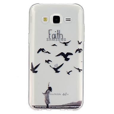 Para Samsung Galaxy Capinhas Transparente / Estampada Capinha Capa Traseira Capinha Palavra / Frase TPU Samsung J5