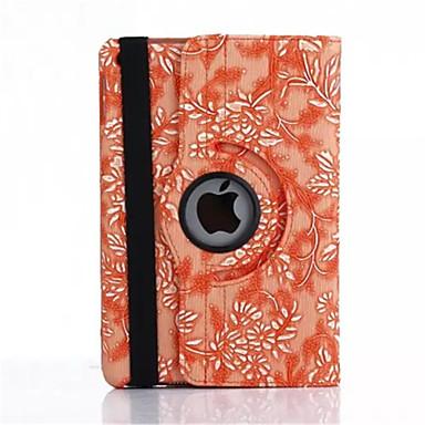 Case Kompatibilitás iPad Air Állvánnyal Automatikus készenlét / ébresztés Origami 360° forgás Héjtok Virág PU bőr mert iPad Air