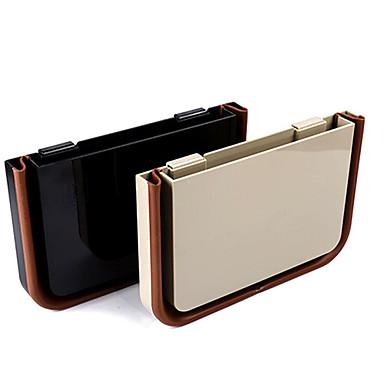 recipiente multifuncional universal caixa de armazenamento de carro com clip (preto / bege)