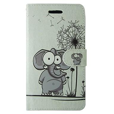Maska Pentru Samsung Galaxy S8 S7 Titluar Card Portofel Cu Stand Întoarce Carcasă Telefon Păpădie Desene Animate Animal Greu PU piele