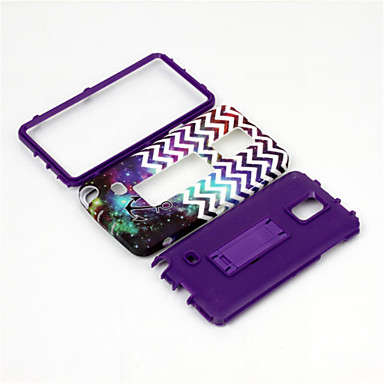 Mert Samsung Galaxy Note Ütésálló / Állvánnyal / Minta Case Hátlap Case Vonalak / hullámok PC Samsung Note 4