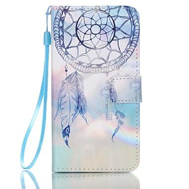 Para Samsung Galaxy Capinhas Carteira / Porta-Cartão / Com Suporte / Flip Capinha Corpo Inteiro Capinha Filtro dos Sonhos Couro PU Samsung