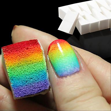 색상 페이드 매니큐어 DIY 창조적 인 네일 액세서리 공급을위한 8 개까지 네일 아트 도구 그라데이션 손톱 부드러운 스폰지